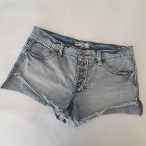 Free people distressed/destroyed denim shorts